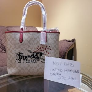 100% Authentic Coach Reversible City Tote NWT